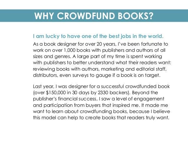 Crowdfunding Books WWC 2015 Slide 2