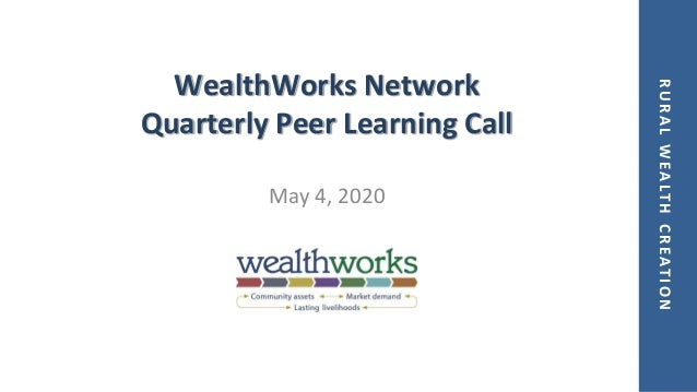 RURALWEALTHCREATION WealthWorks Network Quarterly Peer Learning Call May 4, 2020