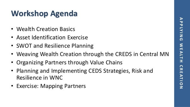 Applying the Wealth Creation Framework to the CEDS Slide 3