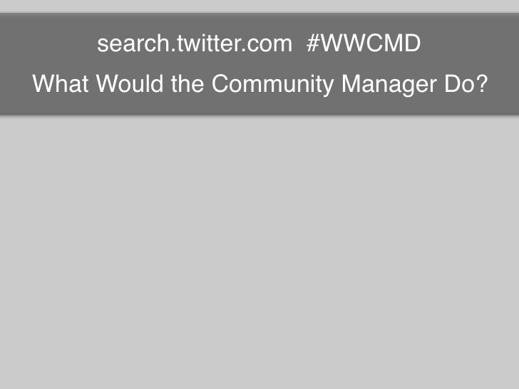 WWCMD?