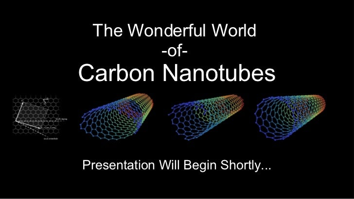 The Wonderful World  -of-  Carbon Nanotubes Presentation Will Begin Shortly...