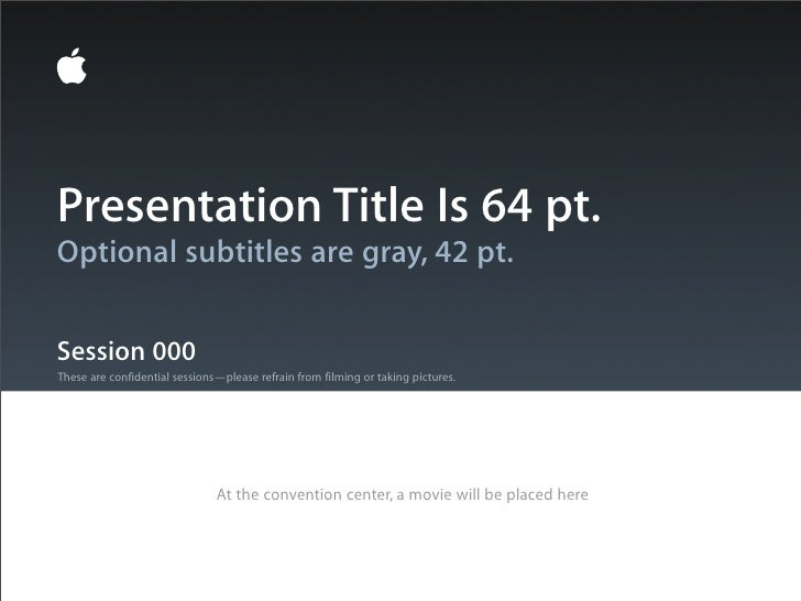Presentation Title Is 64 pt.Optional subtitles are gray, 42 pt.Session 000These are confidential sessions—please refrain f...