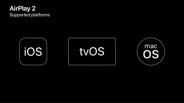 AirPlay 2 Supported platforms tvOS mac OSiOS