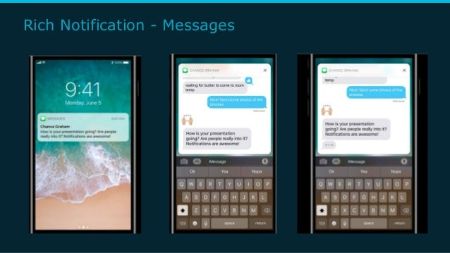 Rich Notification - Messages