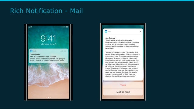 Rich Notification - Mail