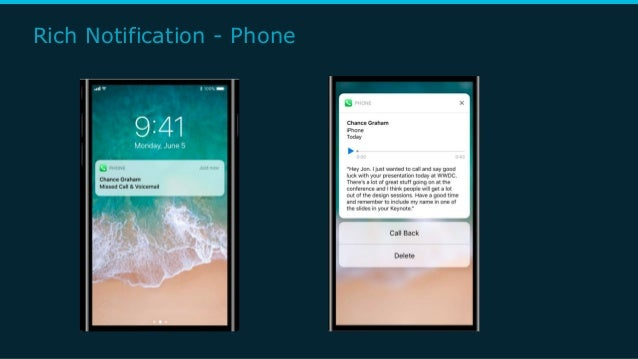 Rich Notification - Phone
