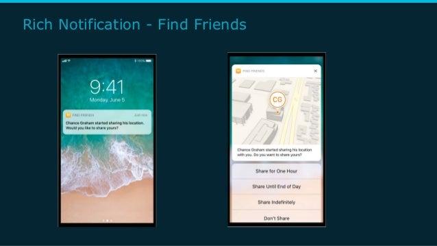 Rich Notification - Find Friends