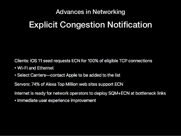 Advances in Networking Explicit Congestion Notification