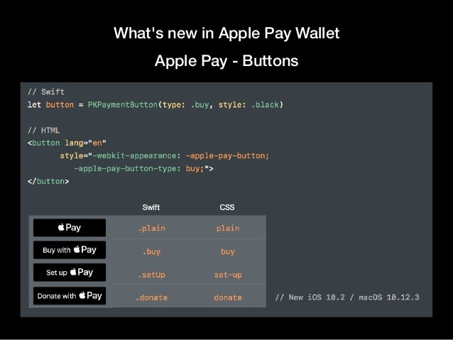 What's new in Apple Pay Wallet Apple Pay - Buttons