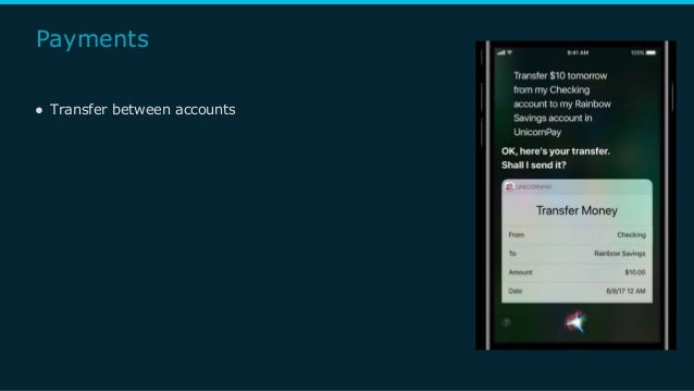 Payments ● Transfer between accounts