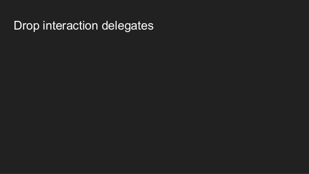 Drop interaction delegates