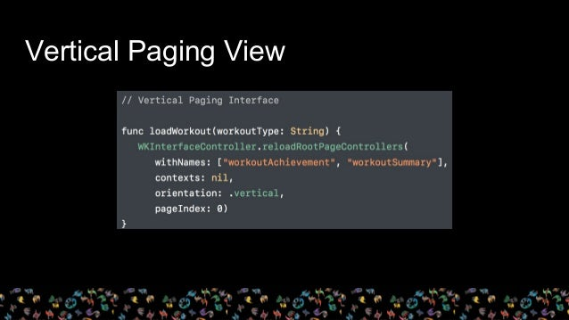 Vertical Paging View