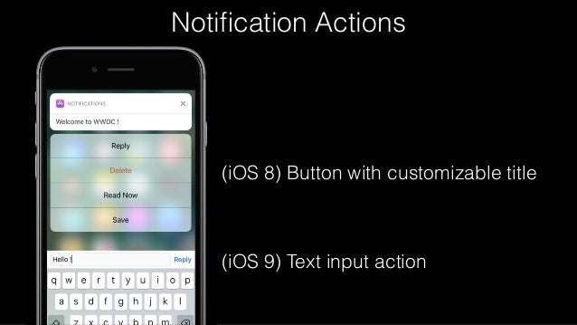 What's New in User Notifications Framework - WWDC16  Meetup
