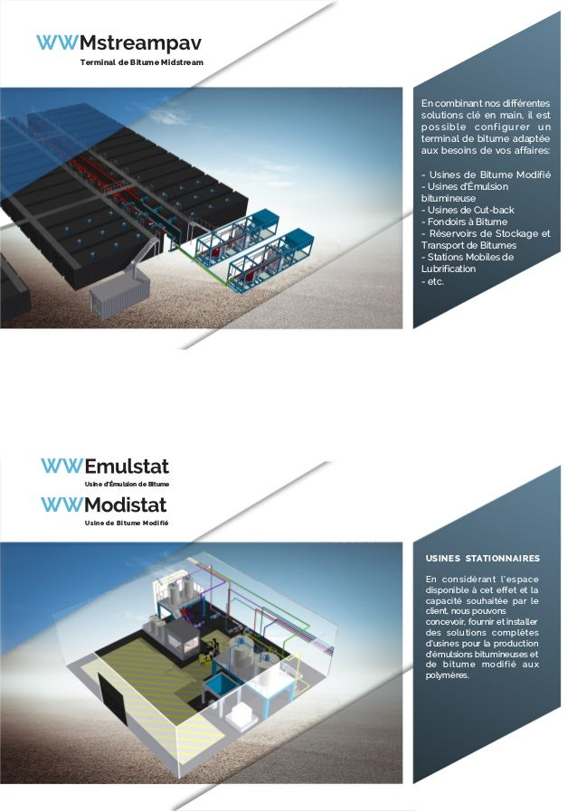 En combinant nos différentes solutions clé en main, il est possible configurer un terminal de bitume adaptée aux besoins d...