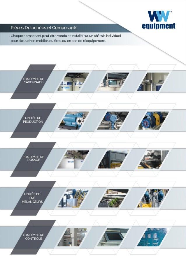 Pièces Détachées et Composants Chaque composant peut être vendu et installé sur un châssis individuel pour des usines mobi...