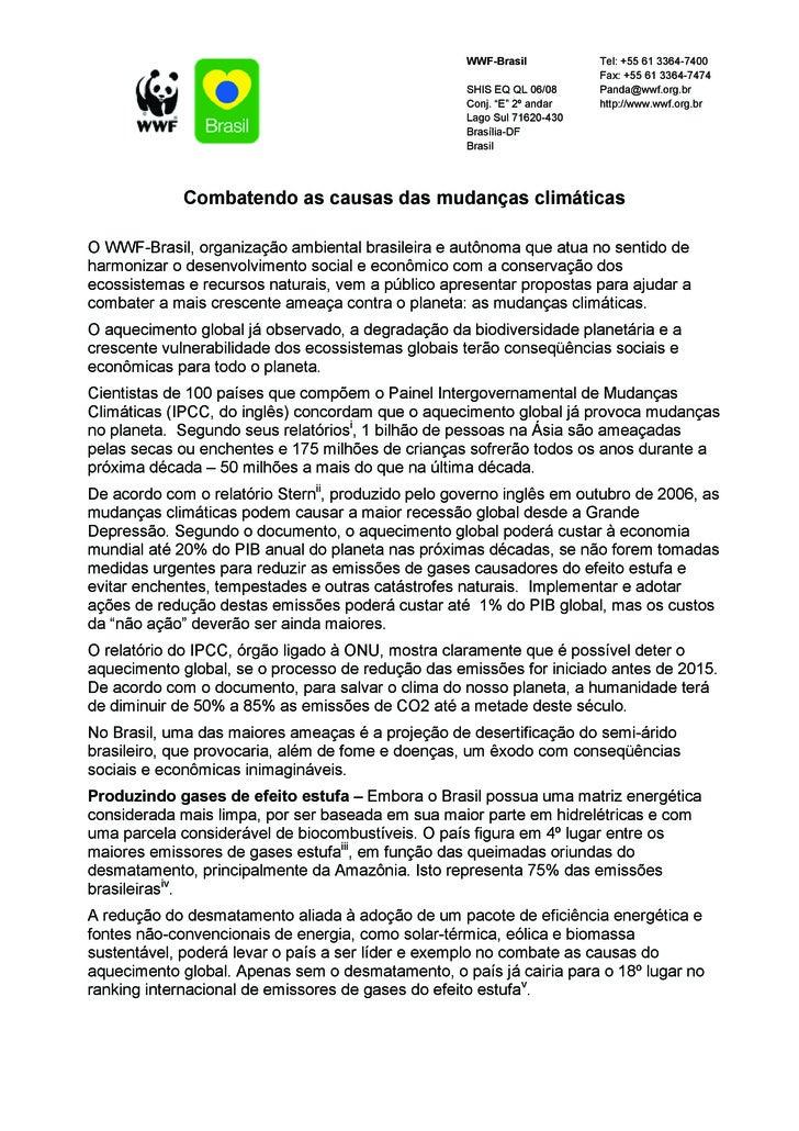 WWF-Brasil           Tel: +55 61 3364-7400                                                                          Fax: +...