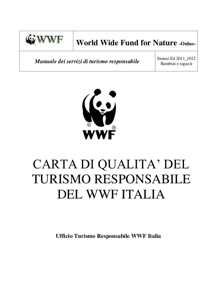 World Wide Fund for Nature -Onlus-                                              Sintesi Ed 2011_2012Manuale dei servizi di...