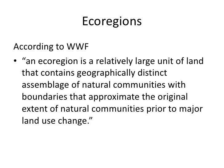 Wwf ecoregions of texas and malaysia