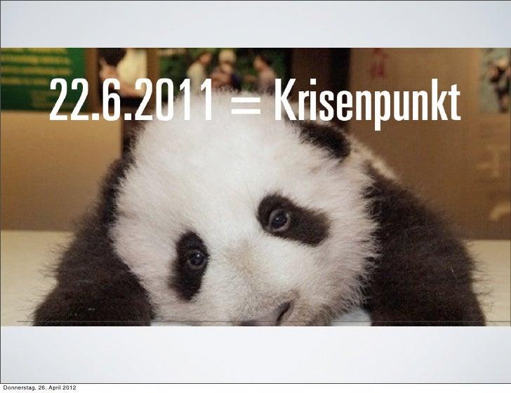 Donnerstag, 26. April 2012