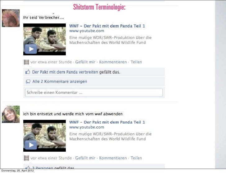 Shitstorm Terminologie:Donnerstag, 26. April 2012