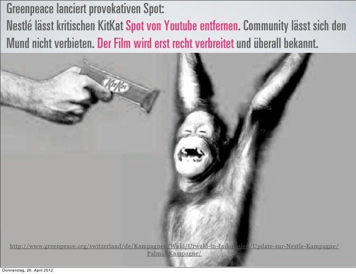 Greenpeace lanciert provokativen Spot:  Nestlé lässt kritischen KitKat Spot von Youtube entfernen. Community lässt sich de...