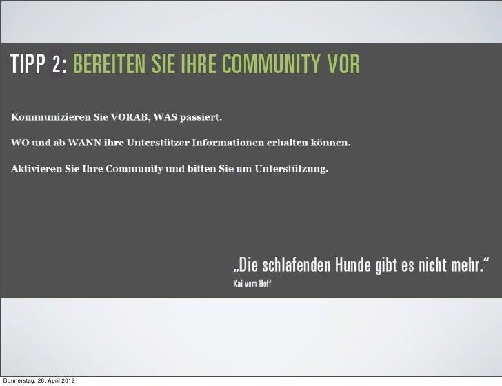 ODonnerstag, 26. April 2012