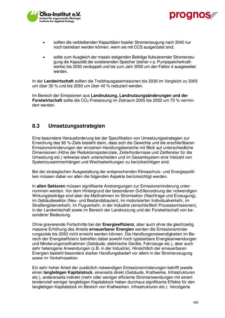 """""""Modell Deutschland"""" - Endbericht"""