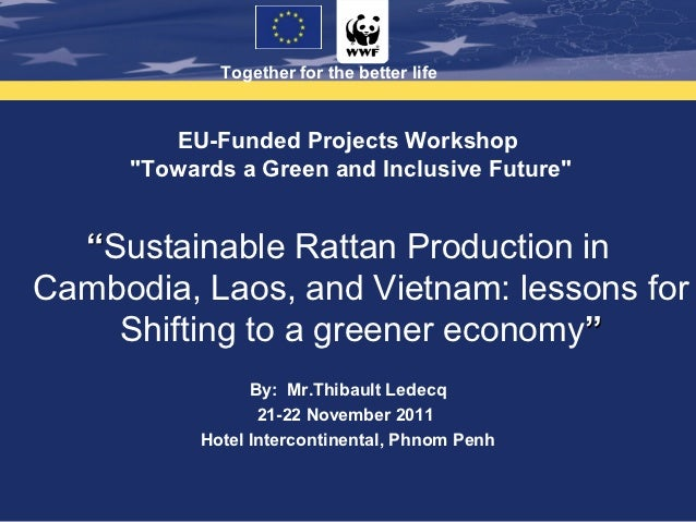 """Together for the better life        EU-Funded Projects Workshop     """"Towards a Green and Inclusive Future""""  """"Sustainable R..."""