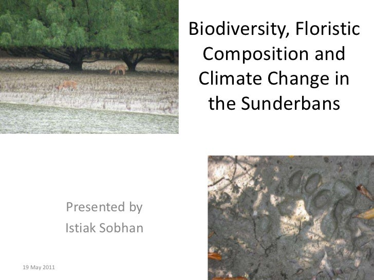 Biodiversity, Floristic Composition and Climate Change in the Sunderbans<br />Presented by<br />Istiak Sobhan<br />13 Apri...
