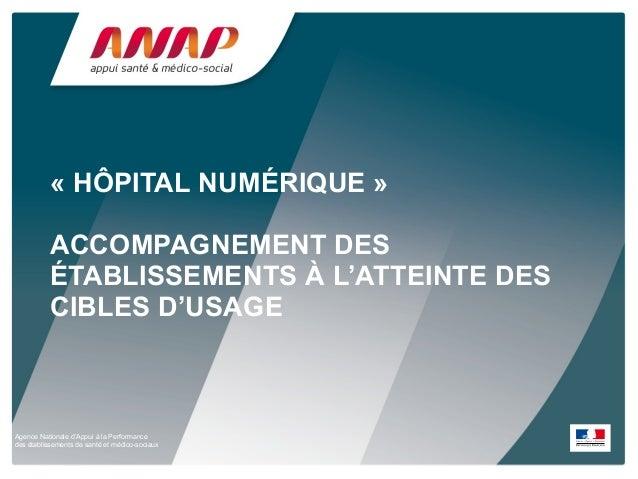 Agence Nationale d'Appui à la Performance des établissements de santé et médico-sociaux « HÔPITAL NUMÉRIQUE » ACCOMPAGNEME...
