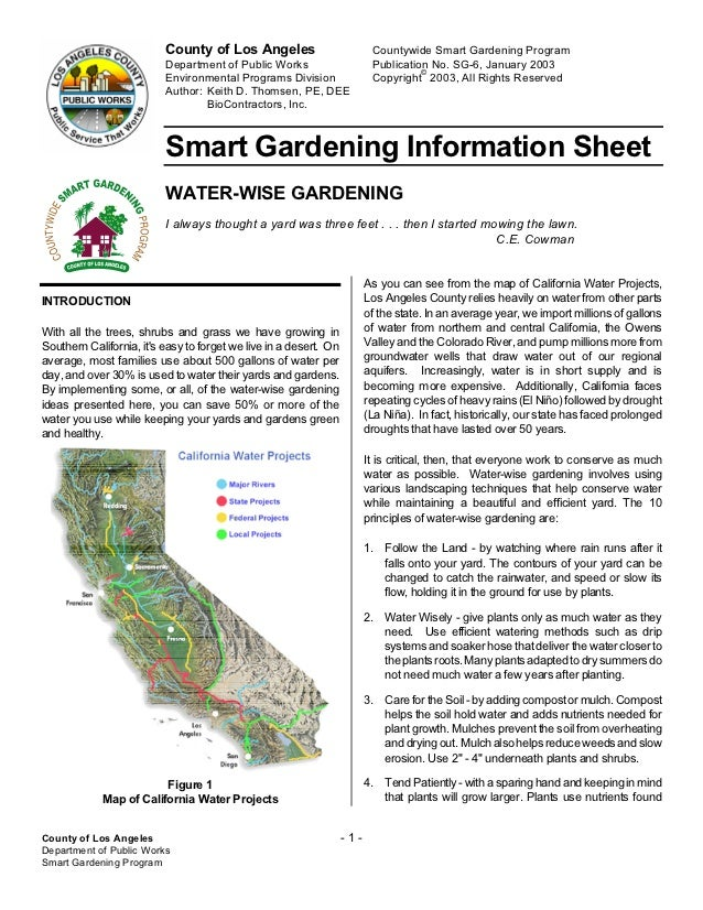 County of Los Angeles                           Countywide Smart Gardening Program                          Department of ...