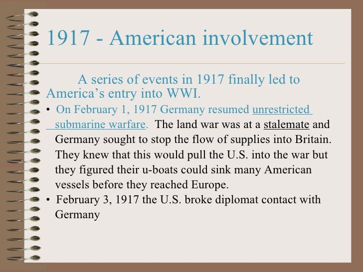 American entry into World War I