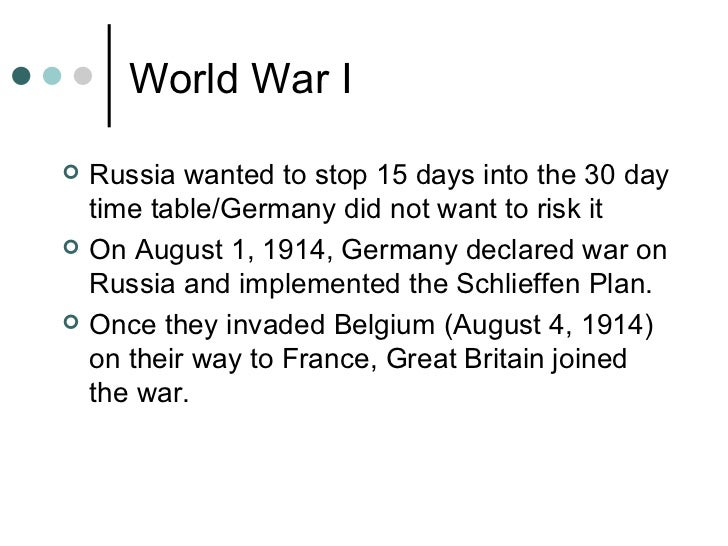 U S In World War I