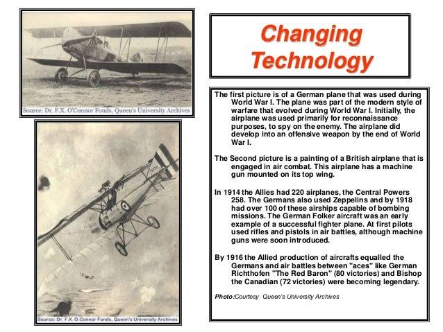Essay: Aircraft During World War 1 and World War 2