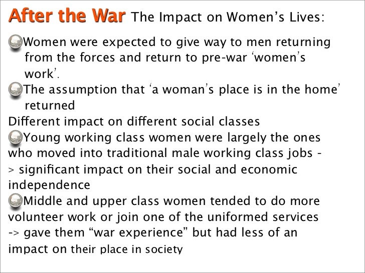 impact of war essay