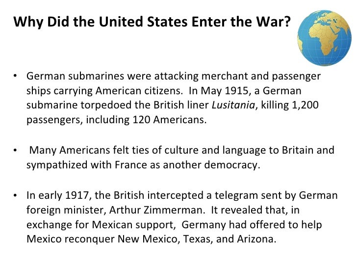 should the us have entered ww1