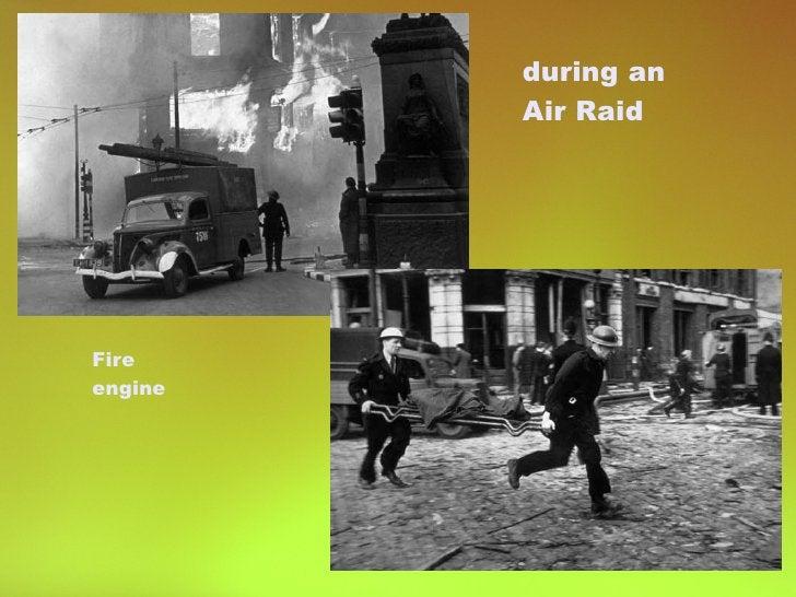 Fire engine during an  Air Raid