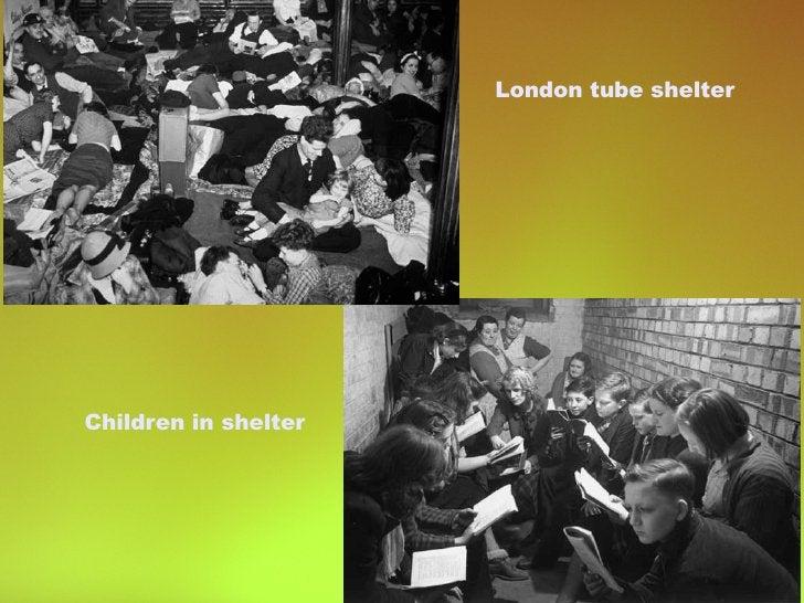 Children in shelter London tube shelter