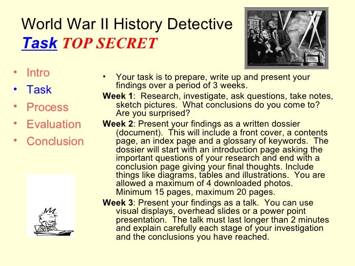 world history research assignment The cause of world war i paper masters writes custom world war i research papers on any topic concern the first world war world war i is rapidly fading into the mists of history term papers, as distant and as elusive as the napoleonic wars, or even the middle agesstanding less than a decade from the centennial of the outbreak of world war i, the world that spawned the great war is alien and.