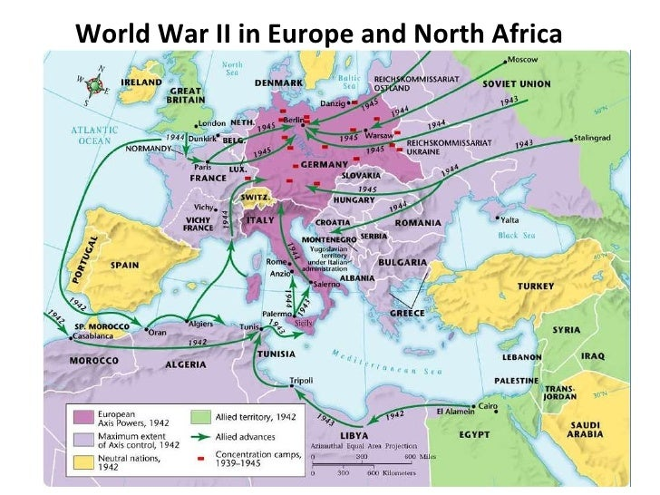 Ww2 Map Of Europe And North Africa  Thefreebiedepot