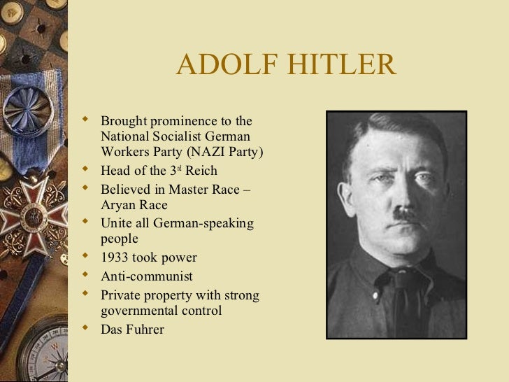 An overview of the racial differences and the perspective of adolf hitler