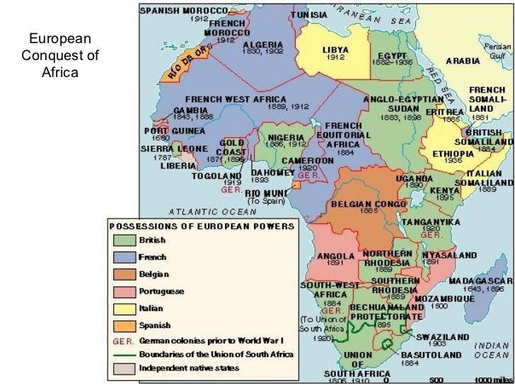 africa map world war 1