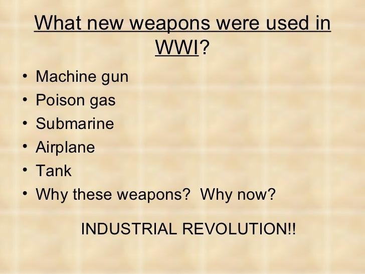 ww1 weaponry