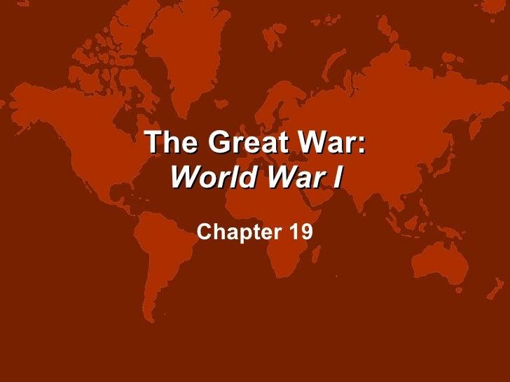 The Great War: World War I Chapter 19