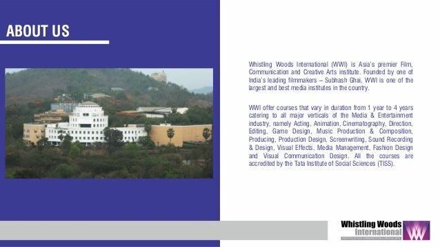 Whistling Woods International Institutional Presentation 2019