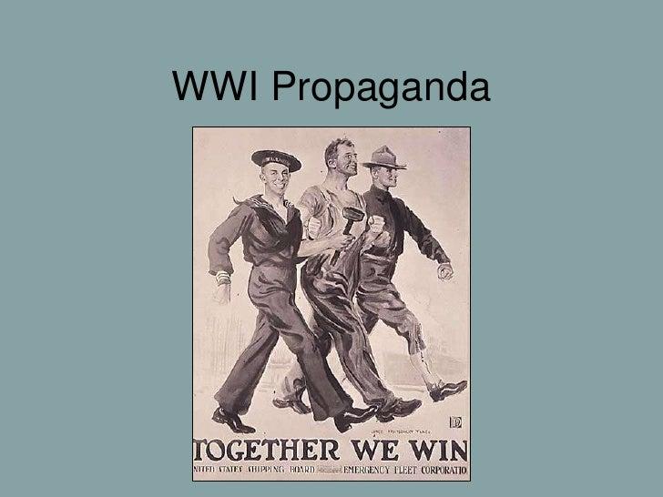 WWI Propaganda & Poems