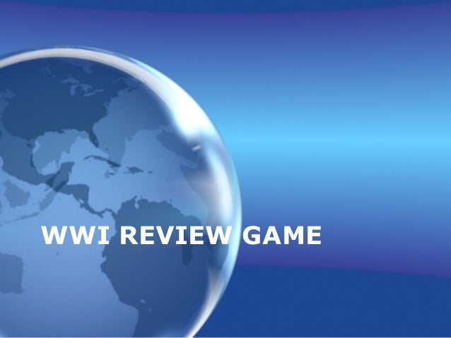 WWI REVIEW GAME