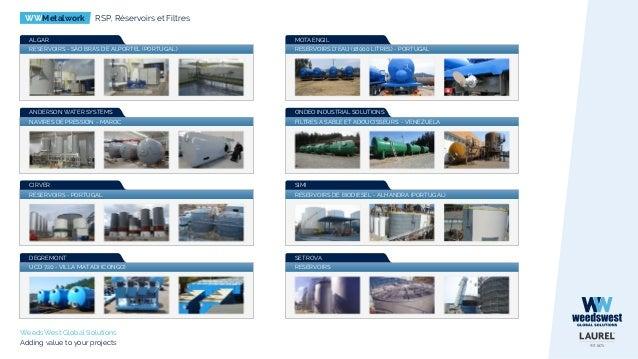 WWMetalwork RSP, Réservoirs et Filtres WeedsWest Global Solutions Adding value to your projects RESERVOIRS D'EAU (18000 LI...