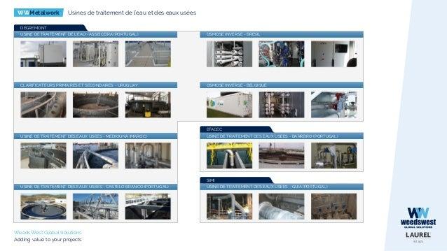 WWMetalwork Usines de traitement de l'eau et des eaux usées WeedsWest Global Solutions Adding value to your projects USINE...