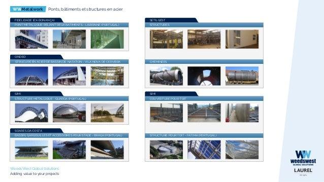 WWMetalwork Ponts, bâtiments et structures en acier WeedsWest Global Solutions Adding value to your projects SETILGEST STR...